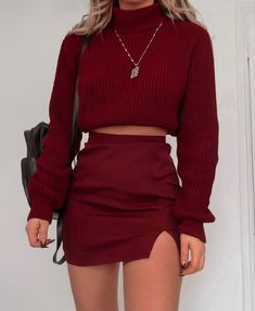 20 Comfy Sweaters To Get Through a Chilly Winter Winter Fashion Outfits, Cute Casual Outfits, Girly Outfits, Skirt Outfits, Look Fashion, Pretty Outfits, Stylish Outfits, Fall Outfits, Casual Dresses