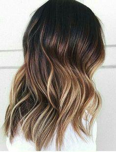 Omber balayage wavy hair #gorgeoushair