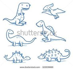 Drawing Doodles Sketches Cute little cartoon dinosaurs for children, hand drawn vector doodle - Dinosaur Sketch, Dinosaur Drawing, Cartoon Dinosaur, Cute Dinosaur, Cartoon Drawings, Cute Drawings, Doodle Cartoon, Cartoon Trees, Doodle Art