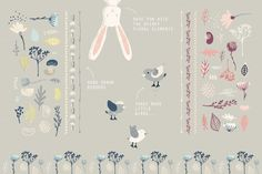 The Happy Little Spring Collection by Lisa Glanz on Creative Market