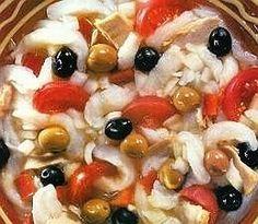 Esqueixada de bacalla (ensalada de bacalao)