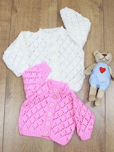 Knitting - Patterns for Children & Babies - Gift Set Patterns - Cozy Diamond Cardigan