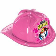 Pink Plastic Jr Firefighter Ha