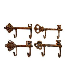 Another great find on #zulily! Key Wall Hook - Set of Four by  #zulilyfinds