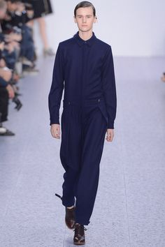 Jumpsuit thoughts: I'll take a tidy collar anytime. Love the sneaky hip pleats, too. Chloe RTW, FW13.