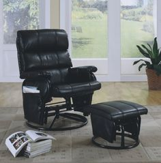 Monarch Specialties Leather-Look Swivel Rocker Recliner with Ottoman, Black Monarch Specialties http://www.amazon.com/dp/B00363XK2I/ref=cm_sw_r_pi_dp_fLcKtb08GFAX6717