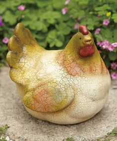 Take a look at this Country Chicken Figurine by Transpac Imports on #zulily today! $12 !!