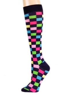 ae0a760378 Save  10.00 on Lime Turquoise Colorful Checkered Knee High Socks  only  4.95