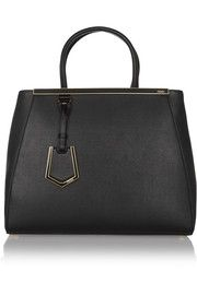 2Jours medium textured-leather shopper