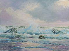 """Saatchi Online Artist Llewellyn Cumings; Painting, """"Wave1"""" #art"""