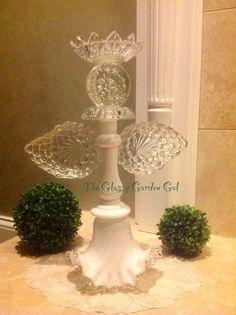 Garden angel, Glass plate garden flower,