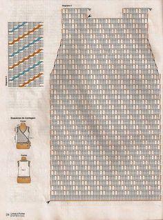 blog de crochet ,dos agujas ,tricot, tejido . tunesino , revistas de tejido Gilet Crochet, Crochet Jacket, Crochet Stitches, Knit Crochet, Crochet Tank Tops, Crochet Shirt, Crochet Designs, Crochet Patterns, Mode Crochet