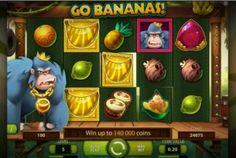 Der Spielautomat Go Bananas von Net Entertainment, besitzt 5 sich drehende Walzen, auf denen sich immer 3 Symbole, mit dem Thema des Automaten beschäftigen.....http://www.online-kasino-spielautomaten.com/Go-Bananas/