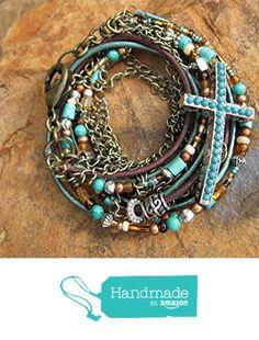 Boho Leather Wrap Bracelet ~ Mahogany from Fleurdesignz Jewelry http://www.amazon.com/dp/B018BRHK7E/ref=hnd_sw_r_pi_dp_siVywb06JKCJ3 #handmadeatamazon