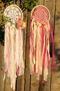 Dreamcatchers#flowers#lace#decorations