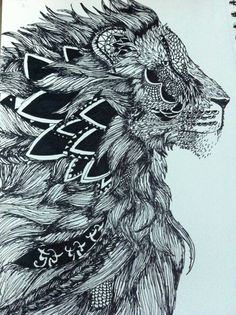 Zentagle Lion drawing by Mallory Tartaglia 2014  mamatartathisfeet.blogspot.com. IMG_4892.jpg 956×1,280 pixels