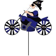 Evergreen Baltimore Ravens Blue//White Metal Wind Spinner