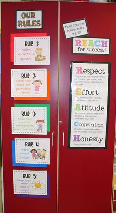 Whole Brain Teaching Rules Plus REACH....like the sign above her school's expectations to tie them together! Add this to my WBT rules before school starts for RODES expectations!