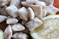 Recipe from Chocolate Therapy: Lemon Chex Buddies