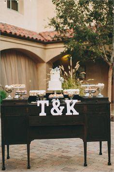 Vintage dresser cake table. Captured By: Lauren Scotti Photography ---> http://www.weddingchicks.com/2014/06/06/shabby-chic-plaza-wedding/
