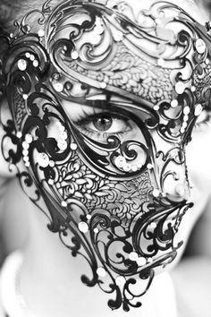 Black Half face Masquerade mask