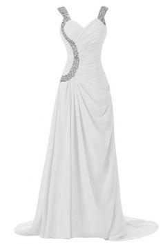 Sunvary Elegant Long Formal Party Dress Bridesmaid Dress Chiffon- US Size 16W- White Sunvary http://www.amazon.com/dp/B00FJ1JVAK/ref=cm_sw_r_pi_dp_m.erub0SWFC55