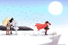 """"""" Red like roses fills my dreams and brings me to the place you rest. """" Thank you, Monty.Weiss and Yang Rwby Anime, Rwby Fanart, Red Like Roses, White Roses, Neon Katt, Boom Clap, Rwby Volume, Rwby Red, Rwby Comic"""