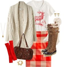 """elk & buffalo plaid"" by shopwithm on Polyvore"