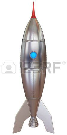 Modello 3D di un razzo. photo