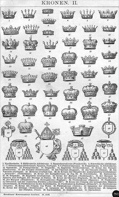 Kronen Adel Freiherr Vicomte Viscount Visconte Marquis Herzog Fürst Prinz Erbischof Kardinal etc.