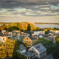 A view from the Portland Observatory in the East End of Portland, Maine