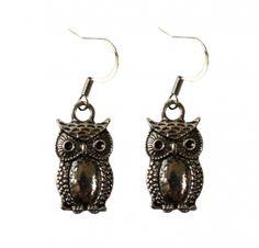 Effraie owl earrings silver