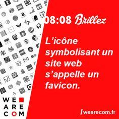 Savoir inutile en communication L'icône symbolisant un site web s'appelle un favicon. Site Web, Periodic Table, Words, Periotic Table, Periodic Table Chart