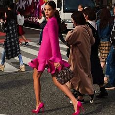 63 Ideas For Pink Dress Outfits Street Styles Pink Fashion, Fashion Outfits, Love Fashion, Fashion Looks, Womens Fashion, Fashion Trends, Style Fashion, Fashion Ideas, Fashion Clothes