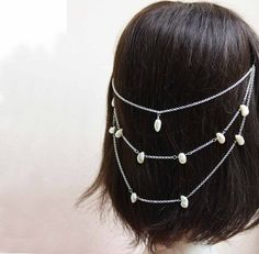 Hey, I found this really awesome Etsy listing at https://www.etsy.com/listing/210121211/wedding-hair-chain-with-big-freshwater
