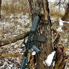 AR-15 Coyote Hunting Rifle in the snow from Instagram