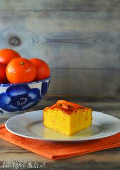 Bizcocho húmedo de mandarina y almendra {sin gluten y sin lácteos}