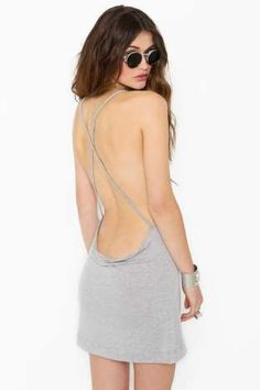 Criss Cross Tank - Heather Gray | Shop whats-new at Nasty Gal