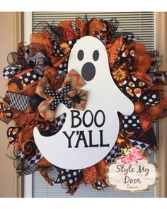 Halloween Boo Y'all Wreath | CraftOutlet.com Photo Contest by Style My Door