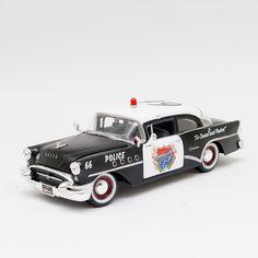Miniatura 1955 Buick Century - Carro de Polícia - Maisto - 1:24 - Machine Cult - Kustom Shop   A loja das camisetas de carro e moto