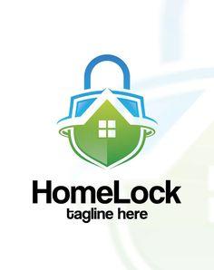 Home Lock Logo Template AI, EPS