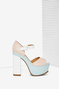 Nasty Gal Sorbet Leather Platforms