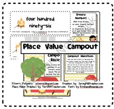 Place Value Campout product from Pitners-Potpourri on TeachersNotebook.com
