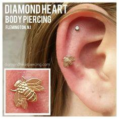 Image result for bee helix piercing #piercings