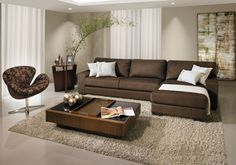 Decoration - Inspiration Relaxing Living Room Décor Ideas With Leather Sofa ~ Gorgeous House Sty Living Room Decor Brown Couch, Beautiful Living Rooms Decor, Curtains Living Room, Couches Living Room, Brown Sofa Living Room, Living Room Sets, Living Room Color, Living Room Paint, Chic Home Decor