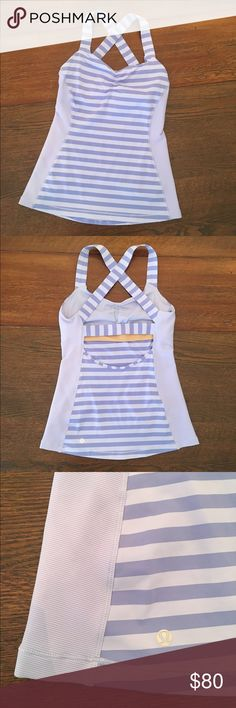 Lululemon Tank Lululemon Tank, like new- excellent condition!  Size 6, dot confirmed.  Open back, bra insert available upon request.  No trades or modeling. lululemon athletica Tops Tank Tops
