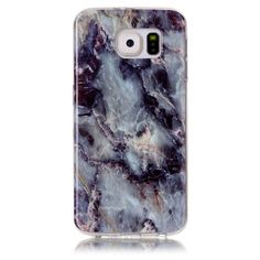 Coque Samsung Galaxy S6 Imprimé Marbre - Bleu