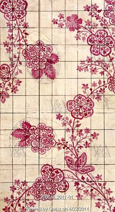 Textile design, by James Leman. England, early 18th century
