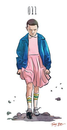 "terryblas: ""I also drew Eleven from Stranger Things tonight. """