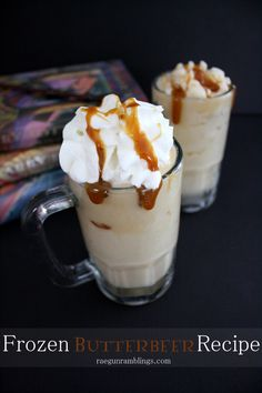 (There had to be something harry potter in this board!) Love Harry Potter? Learn how to make a frozen Butterbeer recipe from scratch! - So Yummy!